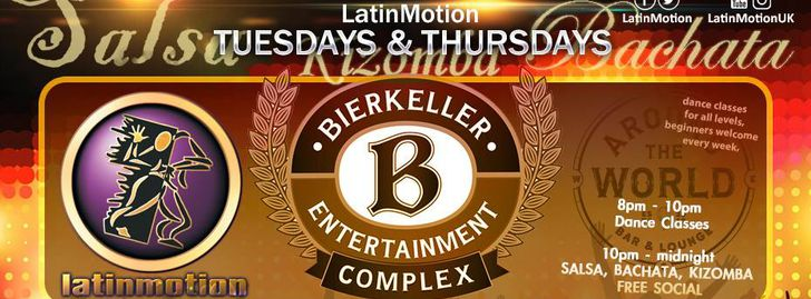 LatinMotion Tuesdays Classes & Social @ Bierkeller