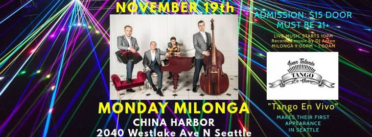 Monday Milonga at China Harbor