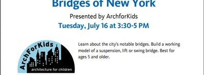 Bridges of New York Presented by Arch for Kids. A Summer Reading Program for Kids! Come enjoy your Summer Reading program and make reading a blast!