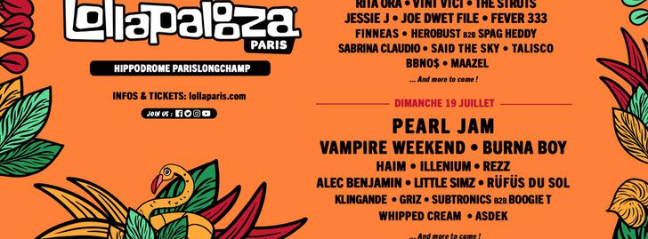 LollaPalooza - Paris