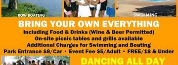 Sun 8/16 ★ SALSA IN THE PARK ★ Salsa Dancing (Wood Floor) + BBQ/Picnic + Swimming + Boating ★ FDR Park in Yorktown
