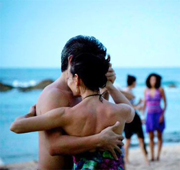 Tango on the beach in Condado, San Juan