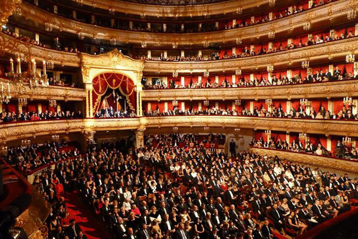 Interior of the Moscow's Bolshoi Theatre