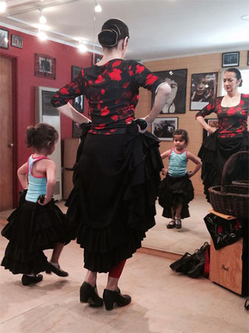 Adults need mirrors, children need mirrors.  Everyone learning Flamenco dance needs a mirror.