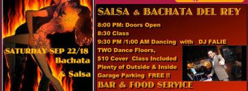 Saturday Salsa & Bachata Del Rey Night