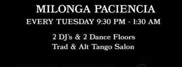 Paciencia Milonga - Stepping Out Studios