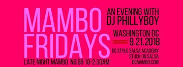 Mambo Fridays No.66 Sept 21st Guest List!