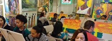 Artizfacts Studio Gallery Paint & Sip Party