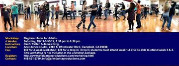 4-Week Beginner Salsa Workshop, Saturday, 3/9/19-3/30/19, 5:30 pm-6:30 pm