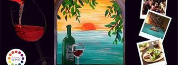 Museica's BYOB Dine & Paint Night - Window to Paradise (Dinner included!)