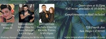 NOCHE DE SABROSURA - Salsa, Bachata and Merengue Night at Tropical Savor