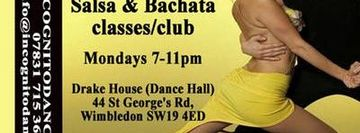 Salsa & Bachata on Mondays at Wimbledon Salsa & Bachata Club