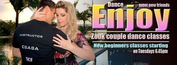 Zouk Beginners 8 week course (Romantic Couple dance)