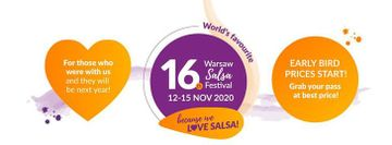 16th El Sol Salsa Festival Official Event 12-15 Nov 2020