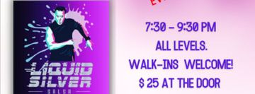 Liquid Silver Salsa Bootcamp every Tuesday